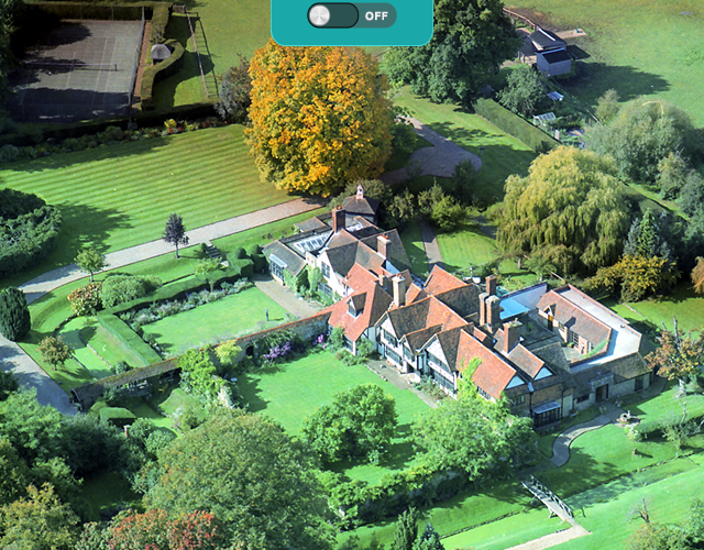 Ariel view of Great Tangley Manor