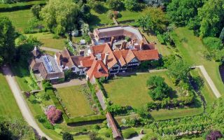 Great-Tangley-Manor-birds-eye-view-drone-country-manor-surrey